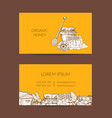 business card template for honey farmer or vector image