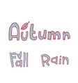 cartoon flat autumn set icon stickers vector image vector image