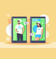 characters in phone screens vector image vector image