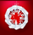 christmas decorated ball on red vector image