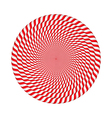 Circles Made of Candy Canes vector image vector image