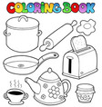 coloring book domestic collection 1 vector image