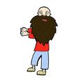 comic cartoon bearded old man vector image vector image