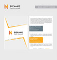 company brochure with creative design with n logo vector image