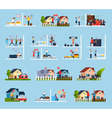 Conflicts With Neighbors Icons Set vector image vector image
