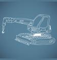 crane working doodle style vector image