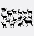 deer animal activity silhouette vector image