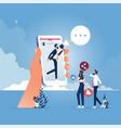 digital marketing and social media marketing vector image vector image