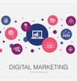 digital marketing trendy circle template with vector image vector image