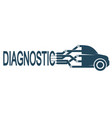 electronic diagnostics cars vector image vector image
