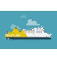 Ferry Line Ship Icon vector image vector image