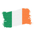flag of ireland grunge abstract brush stroke vector image