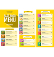 Flat style of fast food menu design vector image