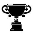 goblet icon simple black style vector image vector image