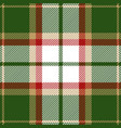 green and red tartan plaid seamless pattern vector image vector image