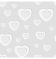 Grey seamless paper pattern with hearts vector image