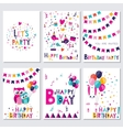 Happy birthday Let s birtday party vector image vector image