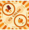 Ice cream label design vector image vector image