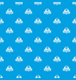 learning stationery pattern seamless blue vector image vector image