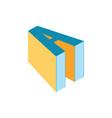 letter a shape book education logo vector image