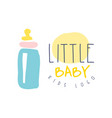 little baby kids logo colorful hand drawn vector image vector image