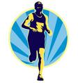 marathon runner running jogging vector image vector image
