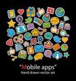 mobile appsscrapbookfashion patch badges vector image vector image