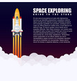 modern galaxy space rocket spaceship launch vector image