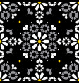 moroccan portuguese seamless tile pattern vector image