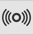 motion sensor icon in flat style sensor waves on vector image vector image