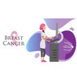 national breast cancer awareness month poster with vector image