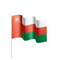 oman flag vector image