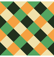 Orange Green Chess Board Diamond Background vector image vector image