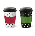 paper cups vector image vector image