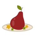 Pear fruit isolated vector image vector image