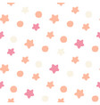 pink confetti star pattern holiday bright vector image vector image