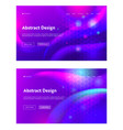 purple abstract geometric hexagon shape web page vector image