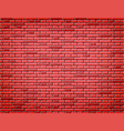 red brick wall texture background design vector image vector image