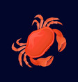 red crab sea creature on a vector image