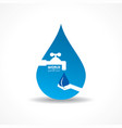 save nature concept - world water day vector image vector image