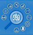 seo icon set for infographic vector image vector image