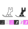 sewing foot simple black line icon vector image