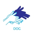 Shadow Hand Puppet Dog vector image vector image