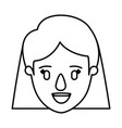 silhouette image caricature front view face vector image vector image