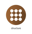 structure flat design long shadow icon vector image vector image