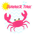 summer time crab vector image vector image