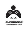 sumo game logo vector image