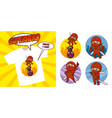 superhero character superheroes set vector image
