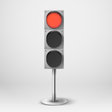 Traffic light Red diod traffic light Templ vector image vector image