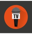 tv microphone isolated icon vector image